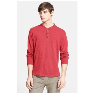 RAG & BONE Standard Issue Slub Cotton Henley Sz L